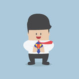 Young businessman tearing his shirt and showing the superhero su Royalty Free Stock Photo