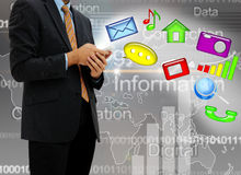 Young businessman technology Stock Image