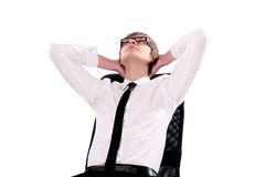 Young businessman thinking Royalty Free Stock Image