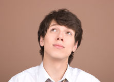 Young businessman thinking Royalty Free Stock Photography