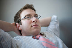 Young businessman thinking Stock Photography