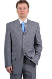 Young businessman thinking about crisis. Image of a businessman in suit Royalty Free Stock Image