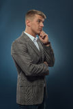Young businessman thinking Stock Photos