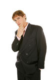 Young Businessman - Thinking it Over Stock Image