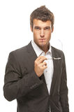 Young businessman thinking Royalty Free Stock Photo