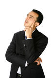 Young businessman thoughtful Royalty Free Stock Images