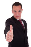 Young businessman with thumb raised Royalty Free Stock Photography