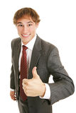 Young Businessman Thumbs-up Stock Photography