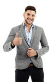 Young businessman thumbs up Royalty Free Stock Photo