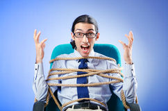 Young businessman tied Stock Photo