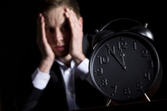 Young businessman totally worried. Royalty Free Stock Photography