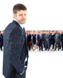 Young businessman turned back Stock Photography