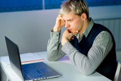 Young businessman under stress Royalty Free Stock Photo