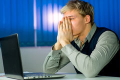 Young businessman under stress Stock Photos