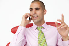 Young businessman using cellphone Royalty Free Stock Photo