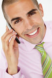 Young businessman using cellphone Royalty Free Stock Images