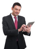 Young Businessman Using Digital Tablet Stock Photos