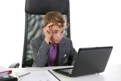 Young businessman using a laptop Royalty Free Stock Image