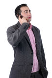 Young businessman using mobile phone Royalty Free Stock Image