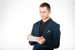 Young businessman using tablet computer Stock Image