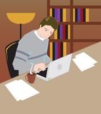 Young businessman vector illustration Royalty Free Stock Photos