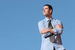 Young businessman with a vision Stock Image
