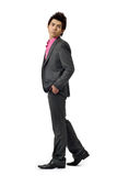 Young businessman walking Royalty Free Stock Photography