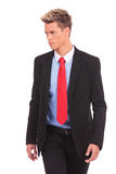 Young businessman is walking Royalty Free Stock Images