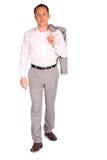 Young businessman walks Stock Image