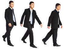 Young businessman walks Royalty Free Stock Images