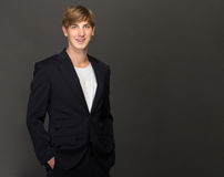 Young businessman wearing casual suit Royalty Free Stock Photography