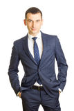 Young businessman wearing an elegant suit Royalty Free Stock Photography