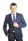Young businessman wearing an elegant suit Royalty Free Stock Photo