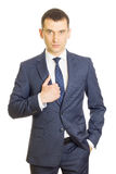 Young businessman wearing an elegant suit Stock Images