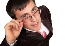 Young Businessman Wearing Glasses. Royalty Free Stock Photography