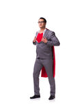 The young businessman wearing red cover on white Royalty Free Stock Image