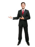 Young businessman welcoming you Stock Image