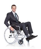 Young businessman in wheelchair Stock Photos
