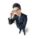 Young Businessman on white royalty free stock images
