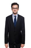 The young businessman on white Stock Image