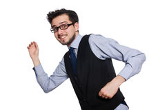 The young businessman on white Royalty Free Stock Photography