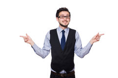 The young businessman on white Stock Images