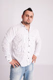 Young businessman in white shirt Royalty Free Stock Images