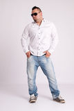 Young businessman in white shirt Stock Images