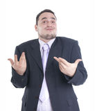 No problem. Young businessman on a white background Stock Images