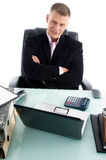 Young Businessman With Crossed Arms Royalty Free Stock Photo
