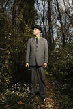 Young Businessman in Woods Stock Photo