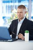 Young businessman at work Royalty Free Stock Photo