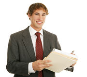 Young Businessman at Work Stock Photo