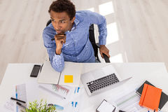 Young businessman at work Royalty Free Stock Image